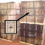 Boxes of cyanide sustained impact damage and water damages