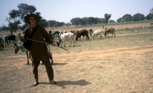 Diallo took this photo of me with some cowvs