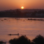 Sunrise over the River Niger in Bamako