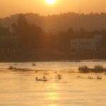 Sunrise in Bamako over the Niger River