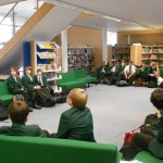 Stephen Davies author visit to Year 7 at CHSB