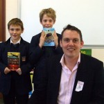students at Henry Cort Community College - Stephen Davies author visit
