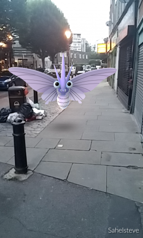 Battersea High Street at dusk - I found a venomoth here.