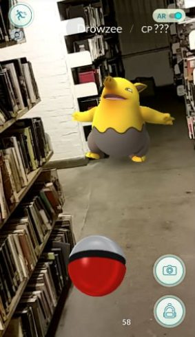 Battersea Park Library is crawling with pokemon. (Photo credit: Wandsworth Libraries)