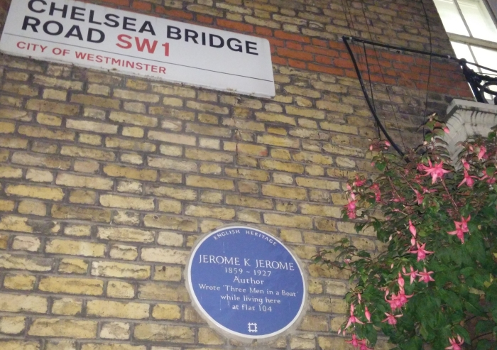 Jerome K Jerome wrote Three Men in a Boat here