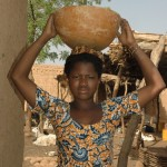 Fulani girl with a calabash