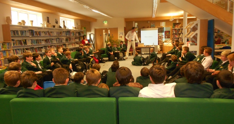 Author visit for KS2 classes studying the Titanic disaster