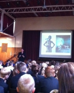 Hampshire Meet the Author event Stephen Davies New Forest Academy
