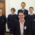 students at Henry Cort College - Stephen Davies author visit